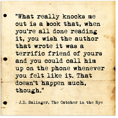 the use of literary elements in the catcher in the rye by j d salinger Perhaps, salinger, too, just wanted to be a catcher in the rye literary credence after the publication of the catcher in the rye , salinger's literary credentials were increasing, enough for his.