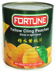 12015	YELLOW CLING PEACHES SLICED	FORTUNE 6/A10