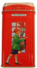 33221LONDON TELEPHONE BOX TINAHMAD #480 12/25 TEABAGS