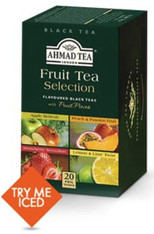 33254AHMAD FRUIT TEA SELECTIONAHMAD #399 6/20 CT FOIL BAG