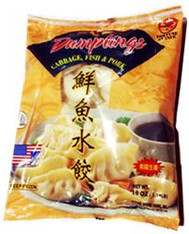 "91443	""CABBAGE, FISH & PORK DUMPLINGS""	FORTUNE AVE 14/19 OZ"