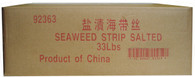 92363	SEAWEED STRIP RED SALTED	HUNSTY 15 KG (33 LBS)
