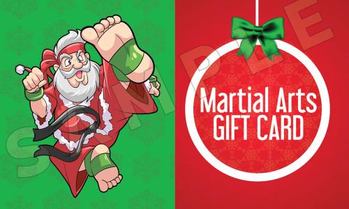 Santa's Martial Arts Holiday Gift Certificate