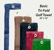 "Basic Golf Towel 28"" x 16"""