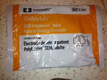 MFID: E7507. E7507, Valleylab, Patient, Return, Electrodes, COVE7507, Covidien, 7507A, 194823, 1942181