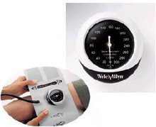 Welch Allyn DS45-11CB Aneroid Sphygmomanometer DuraShock™ Silver Series DS45 Pocket Style Hand Held 1-Tube Adult Arm