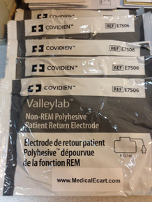 Valleylab, E7506, Adult, Non-REM, PolyHesive, Patient, Return, Electrode, Covidien, COVE7506, E7506A, 1944455, 209556