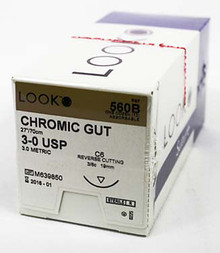 560B Absorbable 3-0 Chromic Gut Suture C-6LO