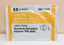 E7507DB Covidien Patient Return Electrode Adult, 18.3 X 11.4 cm PAD, DISPERSIVE GROUND REM W/CORD 15', Case of 50