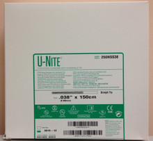 "Bard 250NSS38 U-NIite PTFE Nitinol Guidewire with Hydrophilic Tip 038"" x 150cm"