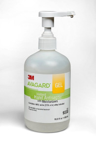 9338  Hand Sanitizer 3M™ Avagard™ 16 oz. Alcohol (Ethyl) Gel Pump Bottle. Case/12
