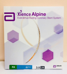 Abbott 1125350-28  XIENCE Alpine Everolimus Eluting Coronary Stent System 3.50 mm x 28 mm / Rapid-Exchange