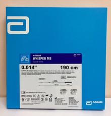 Abbott 1005357H HI-TORQUE WHISPER MS Guide Wire .014 Straight Tip 3.0 cm x 190 cm. Box of 5