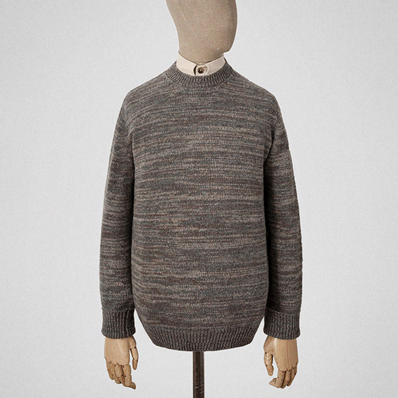 Crewneck Jumper, Putty and Grey