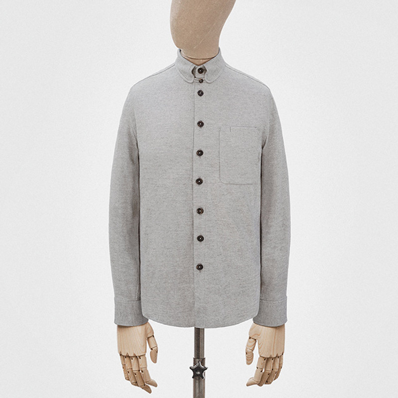 Kelly Collar Shirt, Light Grey