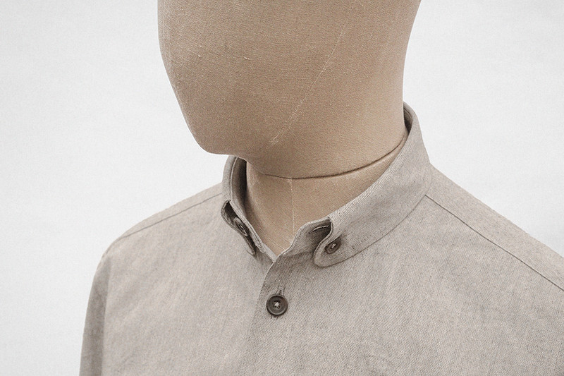 Button-down Shirt, Light Grey
