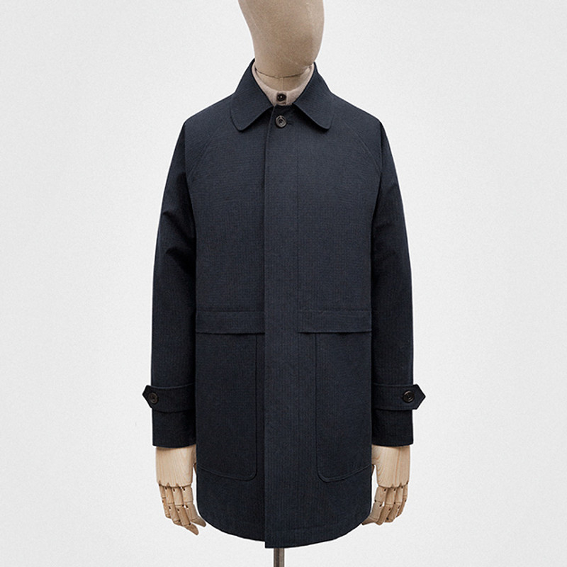 Car Coat, Black-Navy