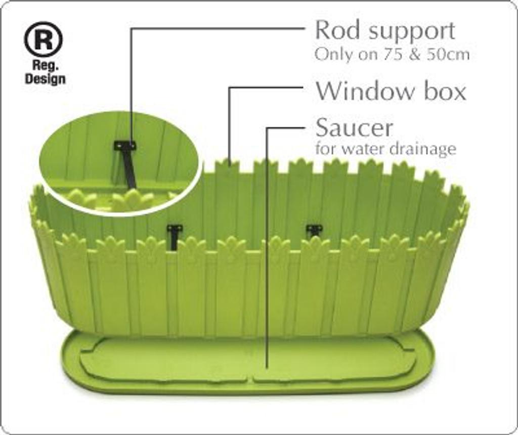 Planter with innovative saucer