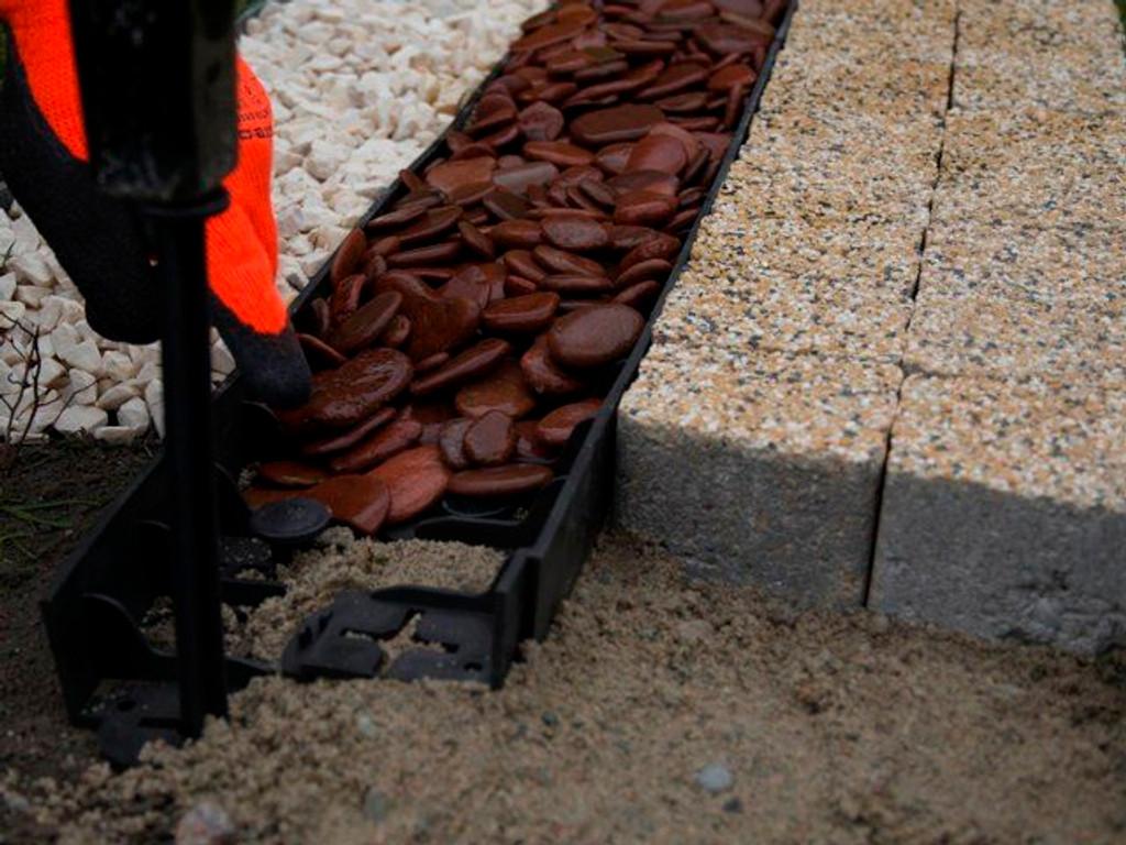 Brick path No-Dig Edging