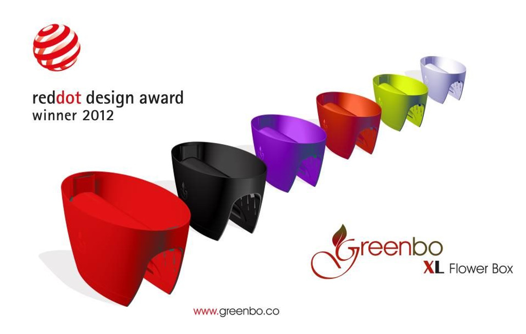 Greenbo railing planter colours - Extra Large.