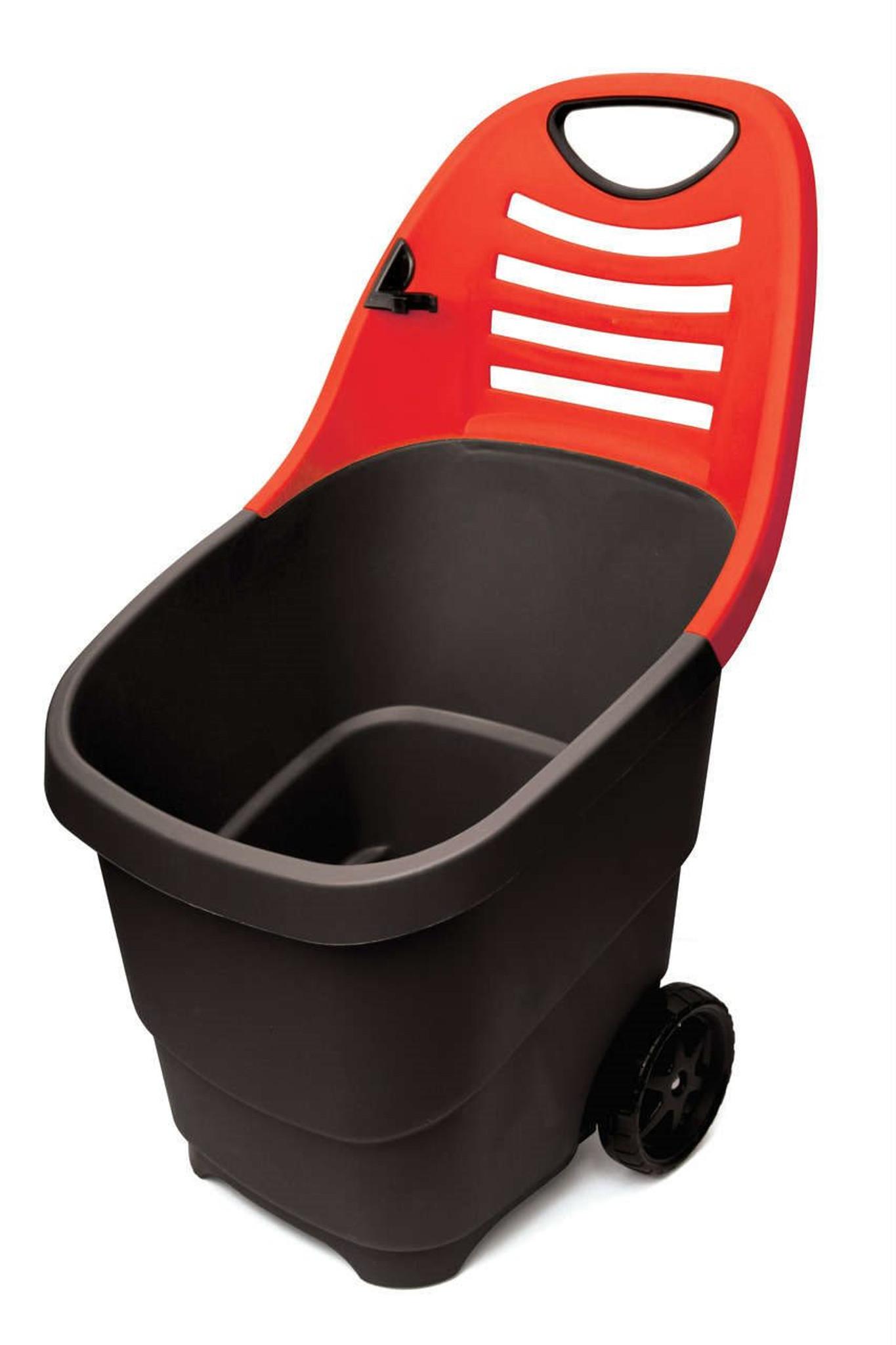 Black Plastic Garden Trolley
