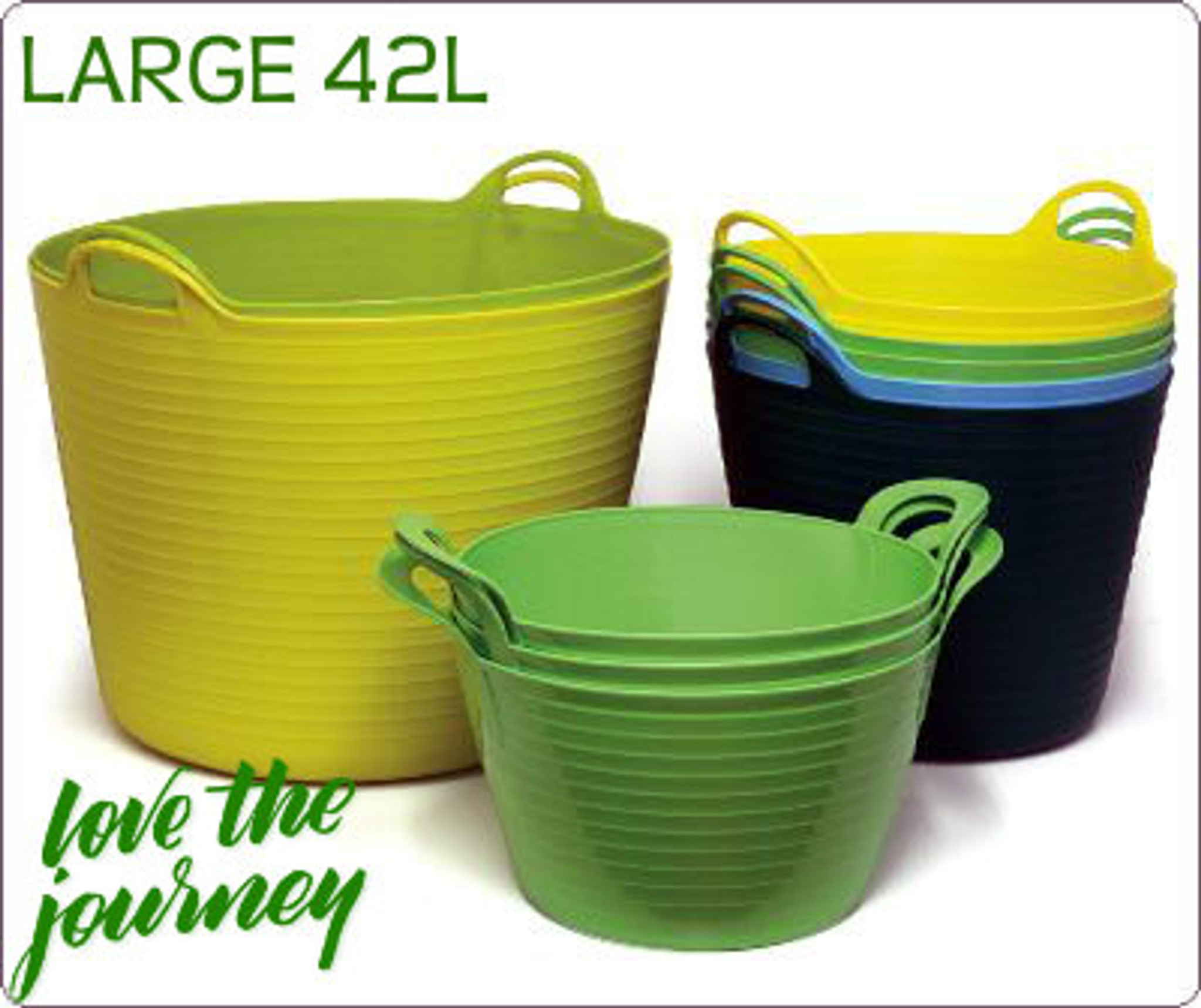 Heavy-Duty all Purpose Polyethylene Tub Flexible and Durable Available in a Range of Colours – Useful for gardening  storage or as growing container.