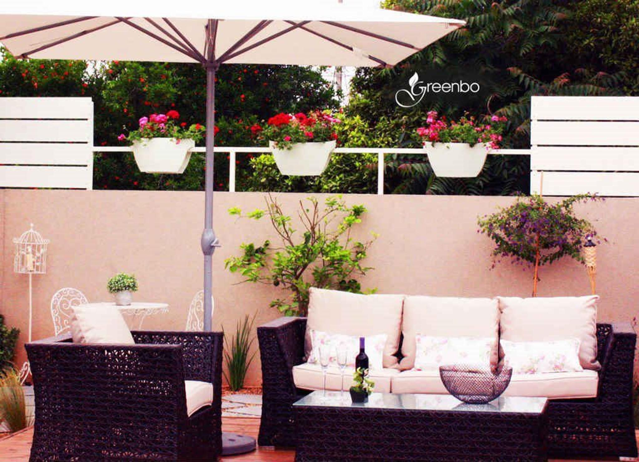 Greenbo extra large railing planter idea