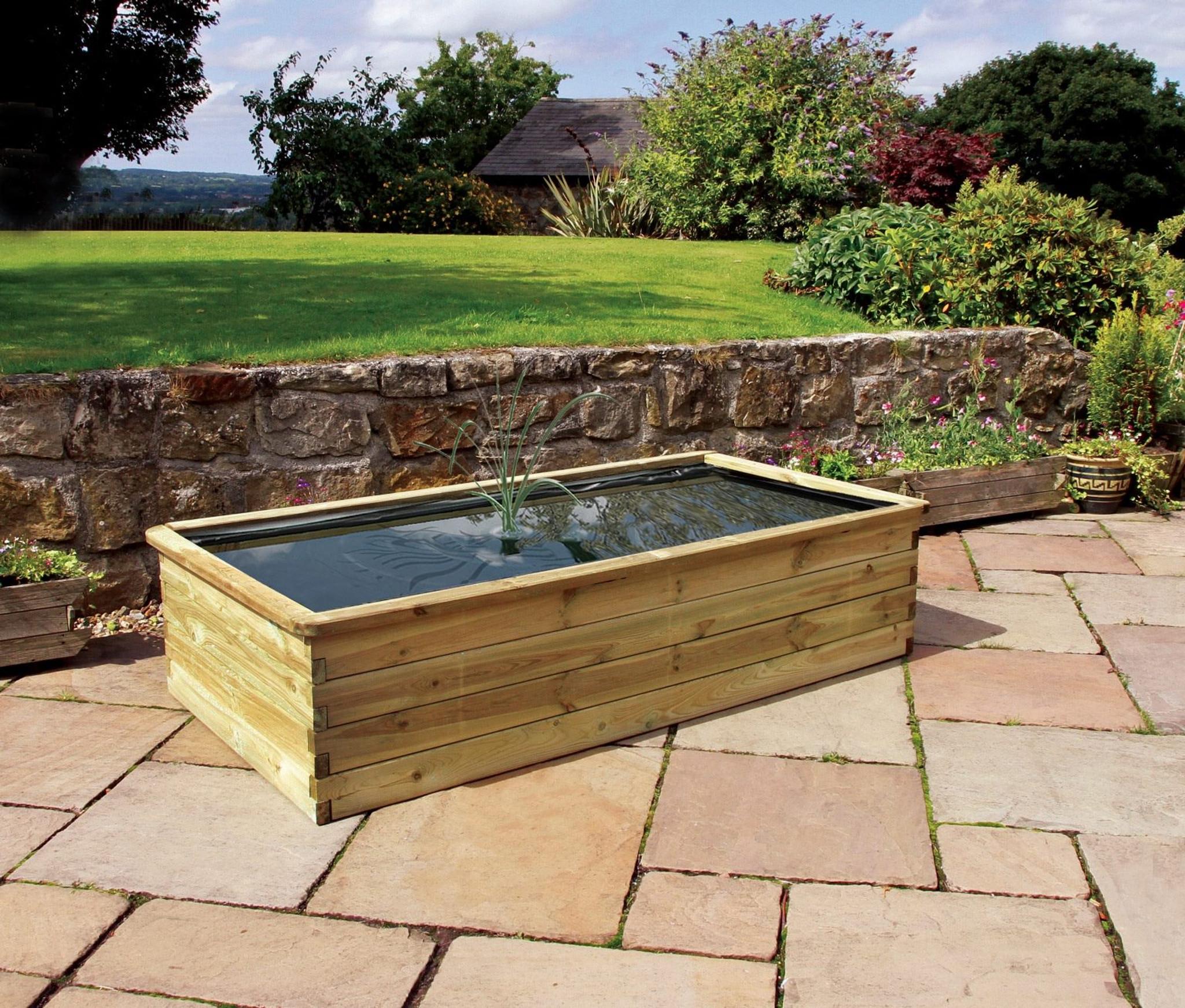Wooden raised pond planters ltd for Planter fish pond