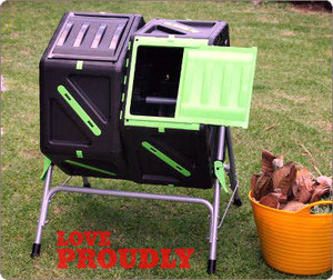 Plastic double composter