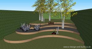 Garden slope terracing