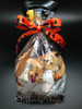 Tie a cellophane bag of chocolate chip cookies with Spooky Town ribbon for a special Halloween treat!