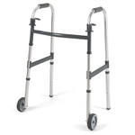 "Invacare Adult Folding Walker & 5"" Wheels 6291-5F"