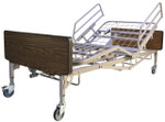 Bariatric bed shown with bed rails