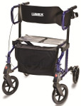 Hybrid LX in rollator mode and Majestic Blue