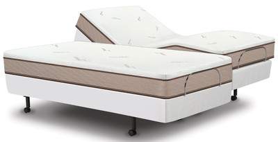 Brio 60 adjustable bed with Memory Cell Trinity mattress