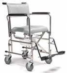 "Everest & Jennings Rehab Commode Shower Chair 5"" Casters"