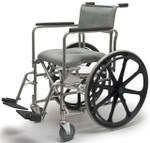 Everest & Jennings Rehab Commode Shower Chair Wheelchair