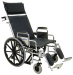Tuffy Deluxe Wide Recliner Wheelchair 497E by Tuffcare