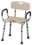 Nova Bath Chair with Arms & Cut-Out 9037
