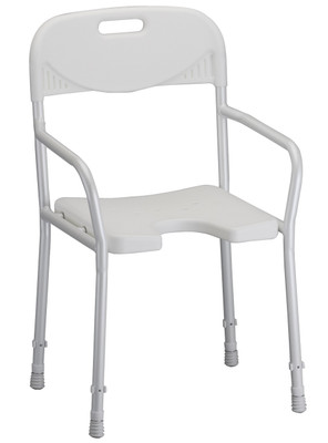 Nova 9401 Shower Chair with Arms & Cut Out