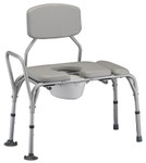 Nova Padded Transfer Bench with Commode 9073