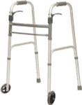 "Probasics Sure Lever Folding Walker with 5"" Wheels WKAAWSL"