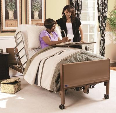 full electric hospital bed w mattress u0026 side rails 5410ivc by invacare