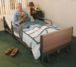 Invacare Full Electric Low Bed w/ Mattress & Rails 5410LOW