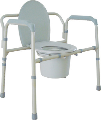 Drive Extra Wide Heavy Duty Folding Commode Chair 11117N-1