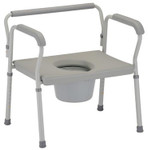 Nova Heavy Duty Commode w/ Extra Wide Seat 8582