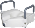 Elevated Toilet Seat with Removable Arms 12027RA by Drive