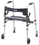 Clever-Lite LS Walker, Seat & Push Down Brakes 10233 by Drive