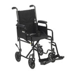 Steel Transport Wheelchair with Removable Arms by Drive