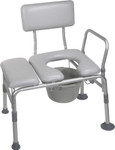 Padded Transfer Bench w/ Commode 12005KDC by Drive